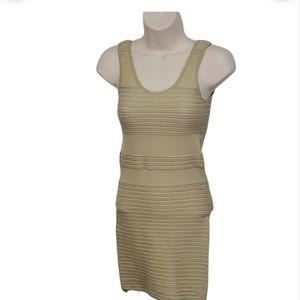 M USA Cabuson Beige Mini Dress